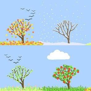 4 seasons blue