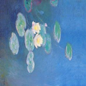 Monet: Nymphéas, effet du soir Double Border Painting