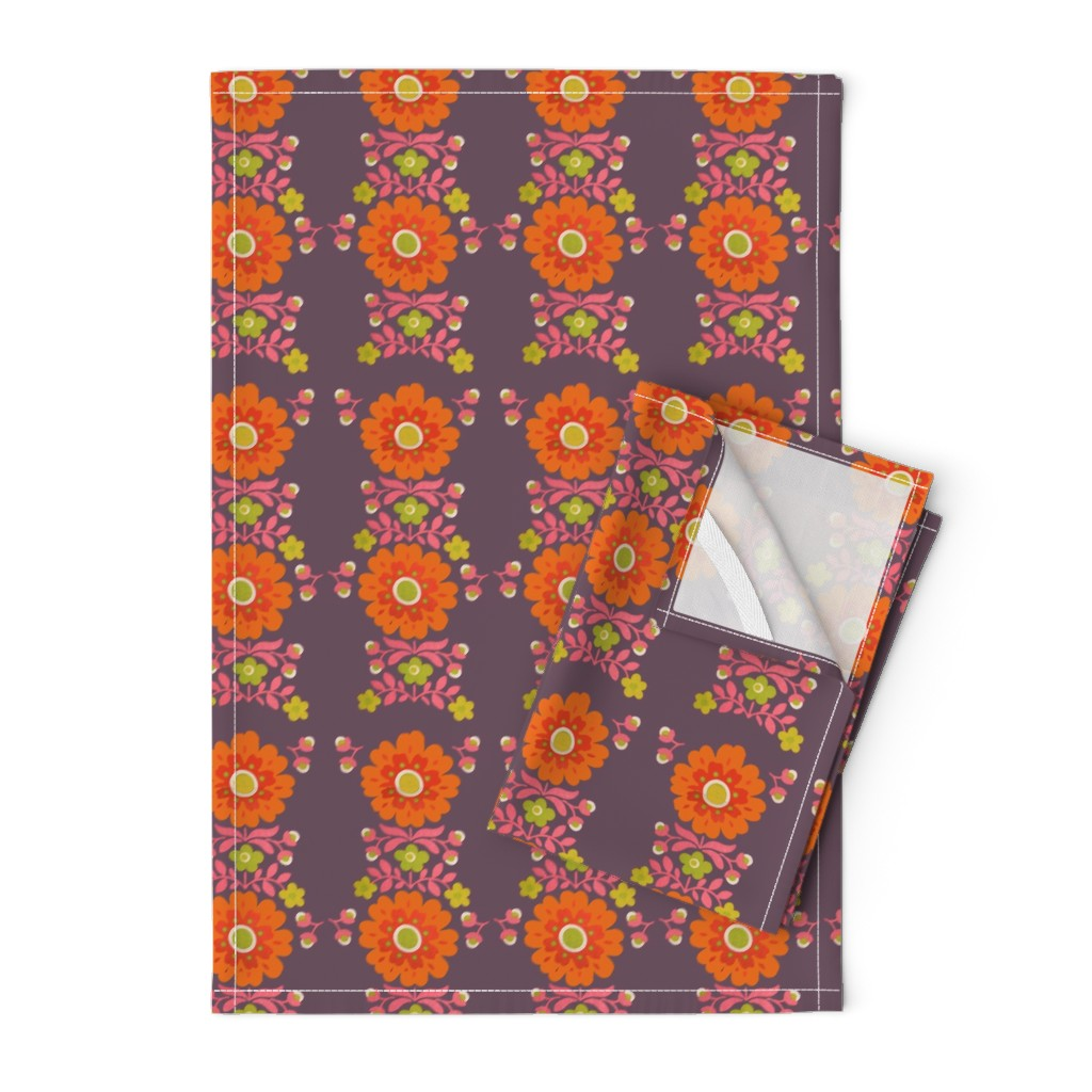 Orpington Tea Towels featuring wooooo the colors! retro by snork