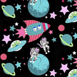 Space Cats // Space rockets