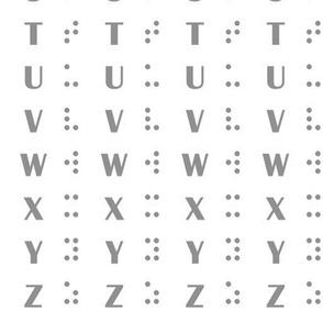 Alphabet Inspired Braille
