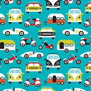 Vintage colorful traffic