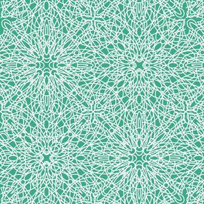 geometric circles - white/teal
