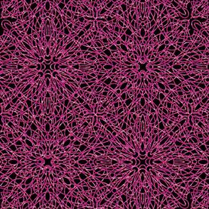 geometric circles - pink/black