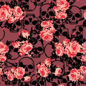 Skull Floral Print