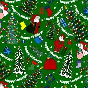 Christmas Trees and Presents Fabric