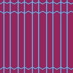 Burgundy and Blue Lines & Thin Chevrons