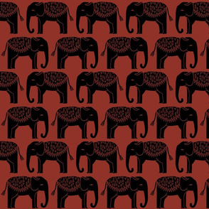 Elephant Parade - Red Oxide by Andrea Lauren