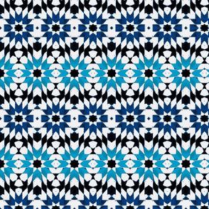 oriental mosaic batik blue medium