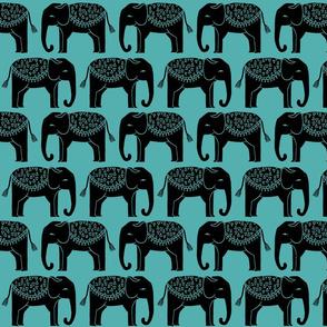 Elephant Parade Block Print -   by Andrea Lauren
