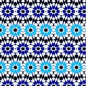 oriental mosaic batik pure summer blue medium