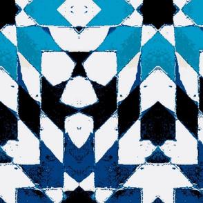 oriental mosaic batik blue medium-ed