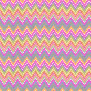 Fiesta PINKS! Kraft paper chevron stripes zig zag