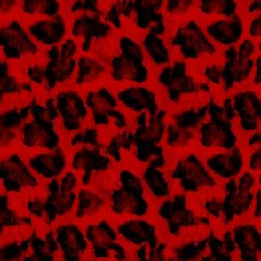 Luxe Leopard ~ Black and Richelieu Red