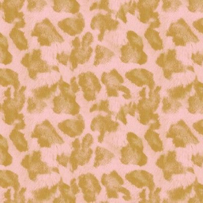 Luxe Leopard ~ Gilt and Dauphine Pink