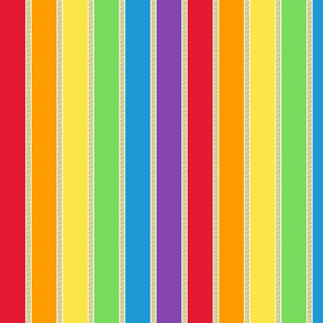Grecian Rainbow (Dash) Medium Vertical stripes