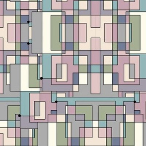Geometric Pastel Grid