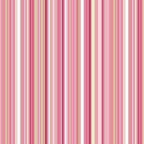 Madame Butterfly Stripes-Med Pink