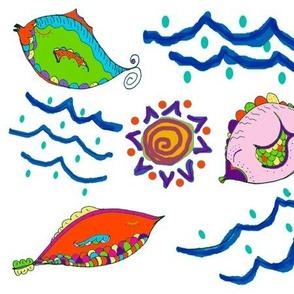 Zany Fish white