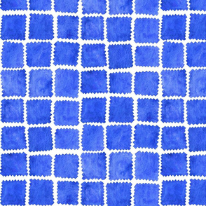 Patches in French Ultramarine