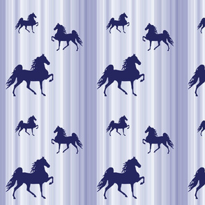 Horses-navy_stripe