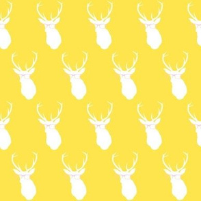 Smarty Pants Deer Small Print, Bright Yellow