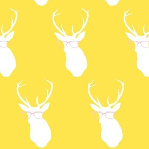 Smarty Pants Deer, Bright Yellow