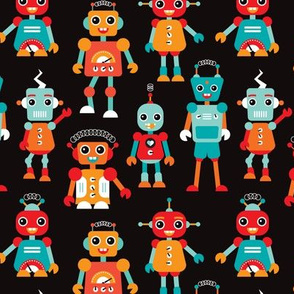 Cool colorful robots for kids