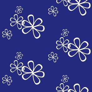 Flowery-Navywhite