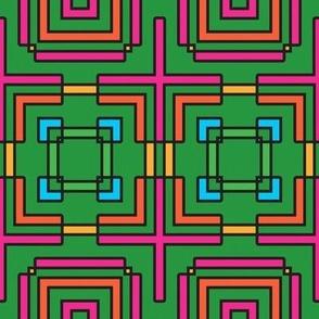 Deco Checks (Green)