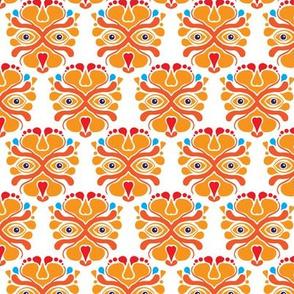 Hup Holland Dutch lion orange sports theme pattern