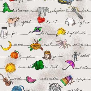 ABC Fabric for Children