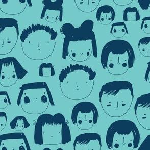 Faces Blue