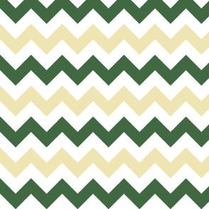 Tan and Olive Chevron Stripes