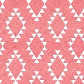 Aztec Crosshatch Pink