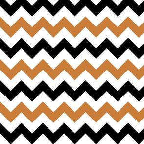 Copper and Black Chevron Stripes