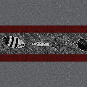 Fishing Lure Horizontal Stripes on Gray (big)