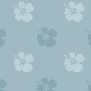 Hibiscus Blue Floral