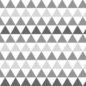 Ombre Triangle Gray