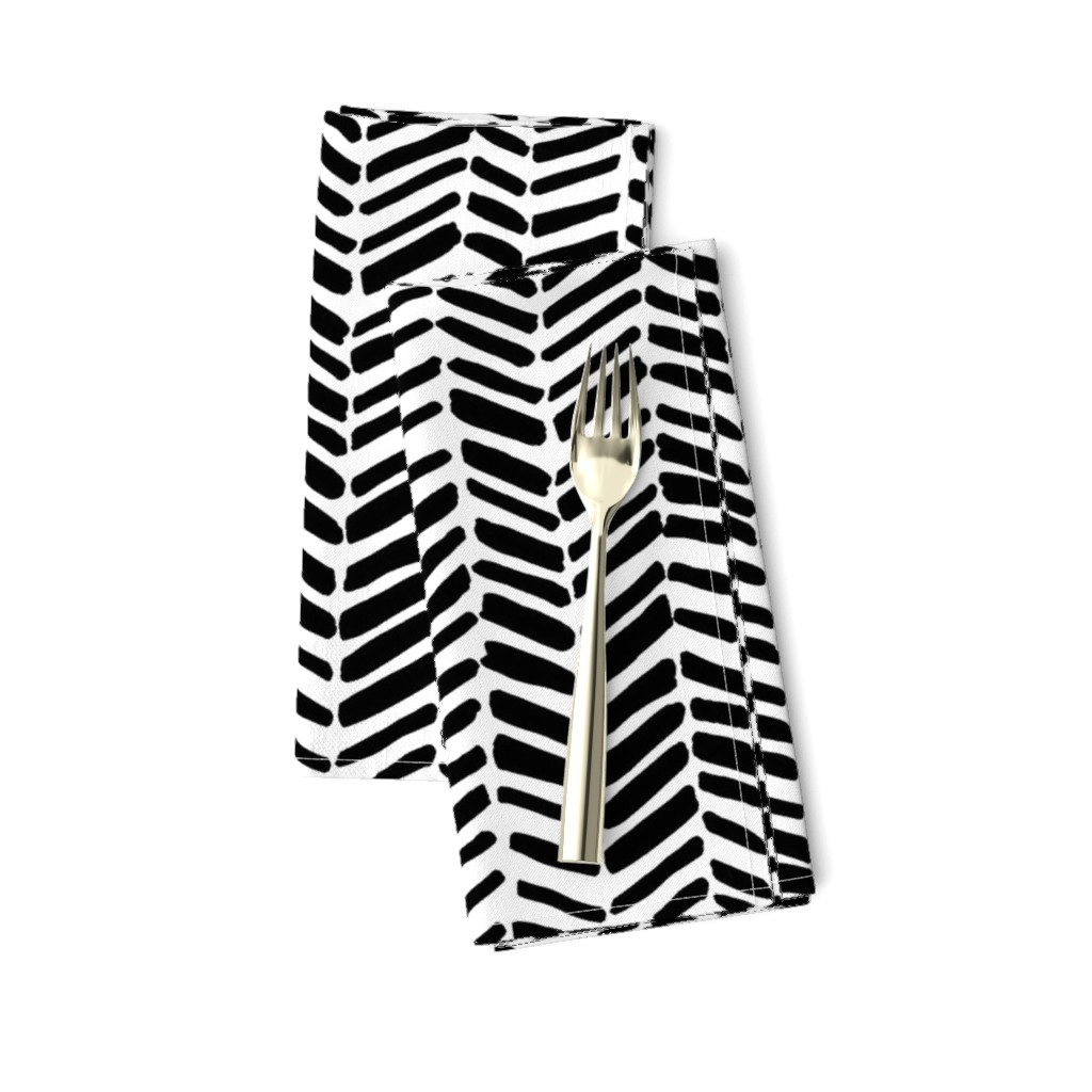 Amarela Dinner Napkins featuring Impression White/Black by leanne