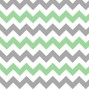 Green and Gray Chevron Stripes