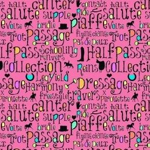 Dressage Chalkboard - Pink