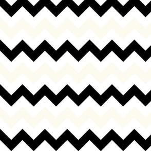 Off-White and Black Chevron Stripes