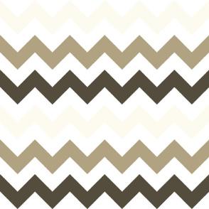 Off-White, Tan, and Brown Chevron Stripes