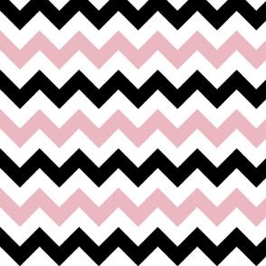 Pink and Black Chevron Stripes