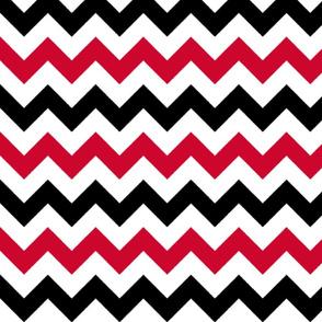 Red and Black Chevron Stripes