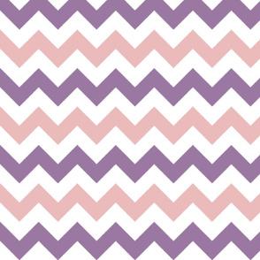 Pink and Purple Chevron Stripes