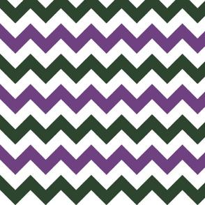 Purple and Green Chevron Stripes