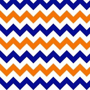 Orange and Blue Chevron Stripes