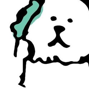 Color Pop Doodle Dogs - Black Outline Large Repeat